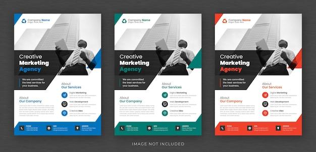 Corporate business mehrzweck flyer design und broschüre deckblatt vorlage Premium PSD