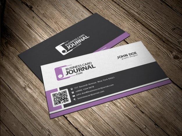 Corporate design visitenkarten Kostenlosen PSD