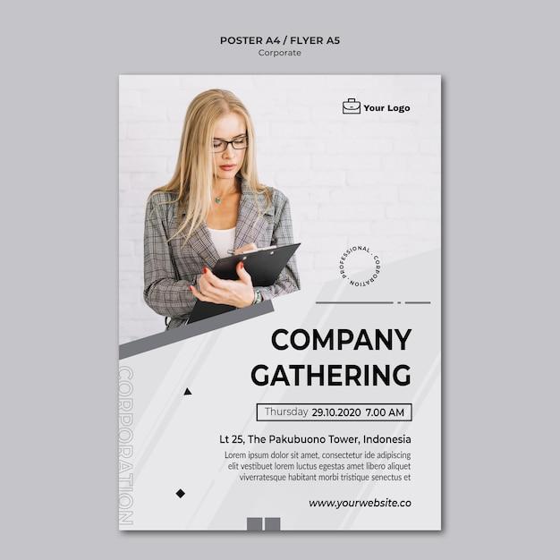 Corporate design vorlage poster Kostenlosen PSD