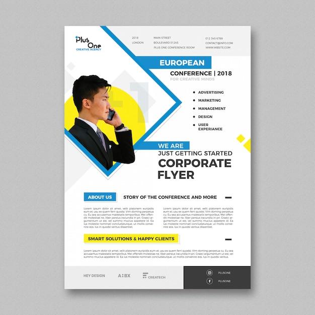 Corporate flyer vorlage Kostenlosen PSD