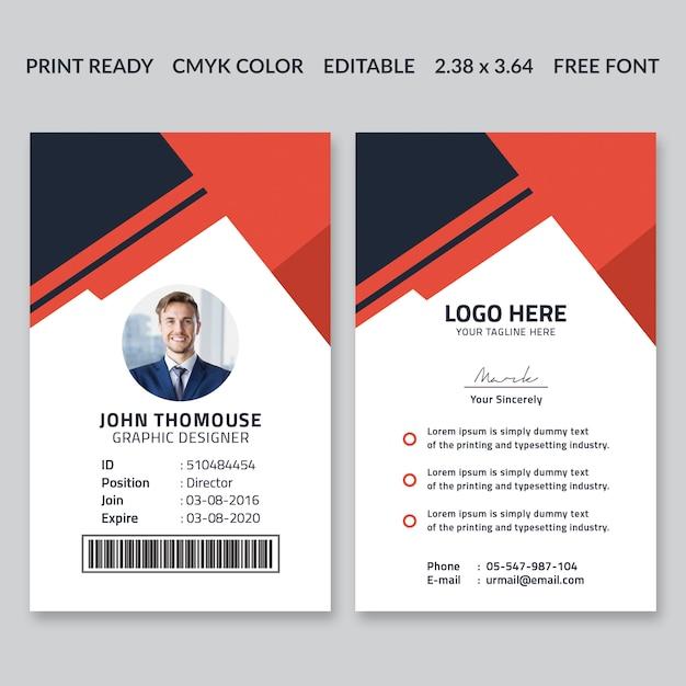 Corporate id card design Premium PSD