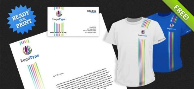 Corporate identity psd pack 2 Kostenlosen PSD