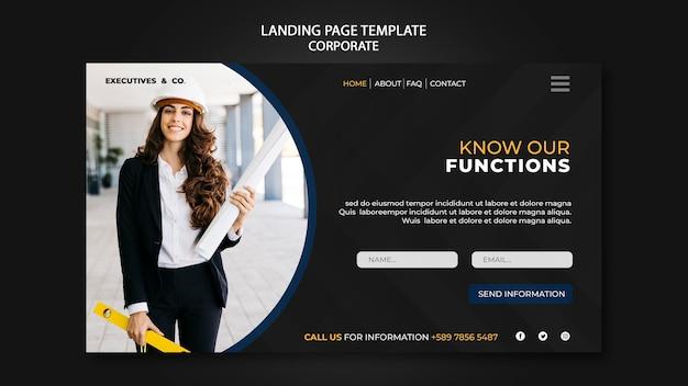 Corporate landing page vorlage Kostenlosen PSD
