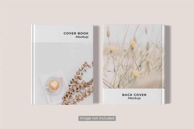 Cover und rückseite von book mockup Premium PSD