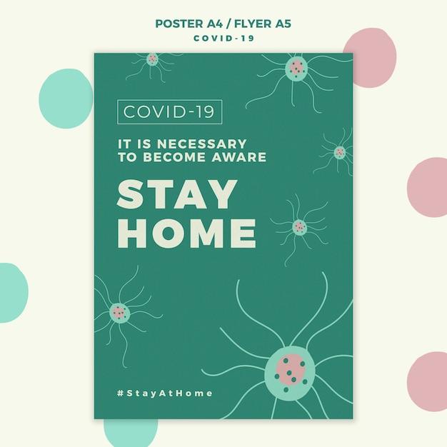 Covid-19 flyer vorlage Kostenlosen PSD
