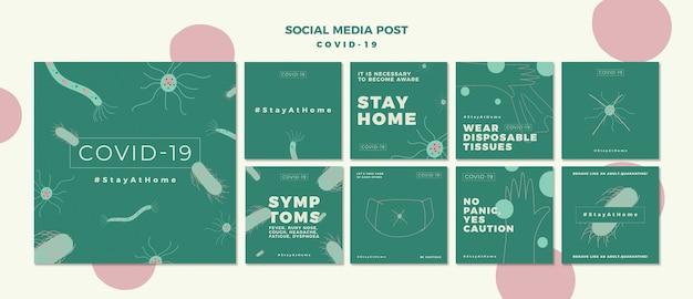 Covid-19 instagram post pack Kostenlosen PSD