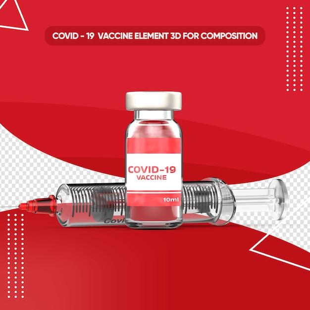Covid impfstoff rendern in 3d-rendering Premium PSD