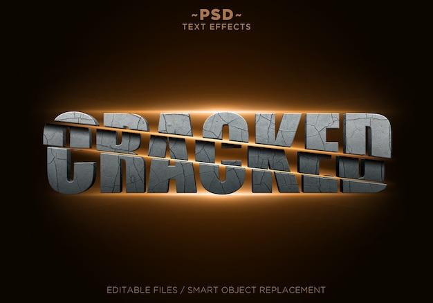 Cracked sliced effects textvorlage Premium PSD