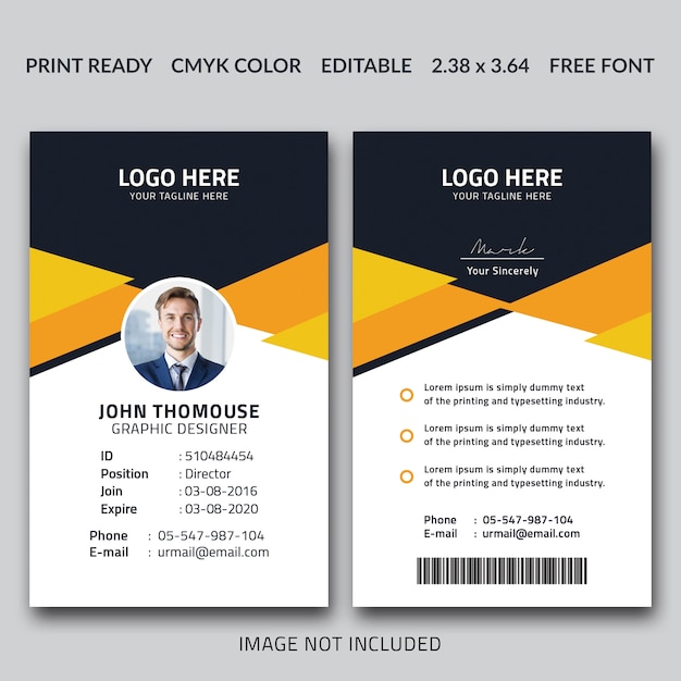 Creative id card design Premium PSD