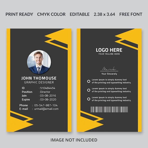 Creative id card design Premium PSD