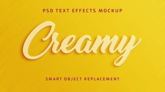 Cremiger 3d-texteffekt Premium PSD
