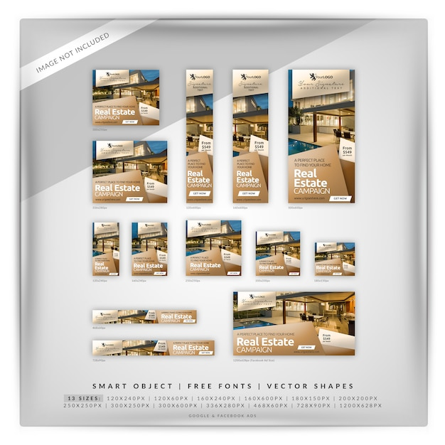 Cube immobilien google & facebook ads Premium PSD