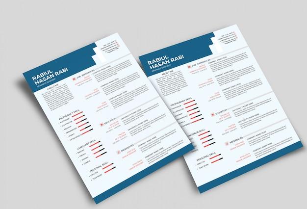 Cv / resume mockup Premium PSD