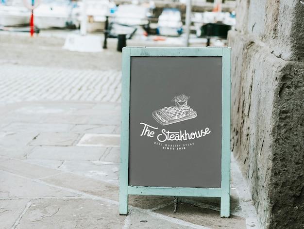 Das steakhouse-board-modell Kostenlosen PSD