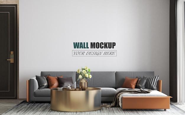 Das wohnzimmer hat ein modernes wandmodell Premium PSD