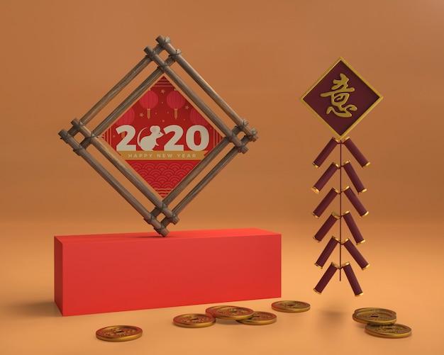 Dekorative ornamente auf dem tisch Kostenlosen PSD