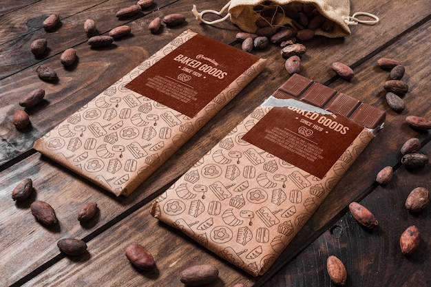 Dekoratives schokoladenmodell Kostenlosen PSD