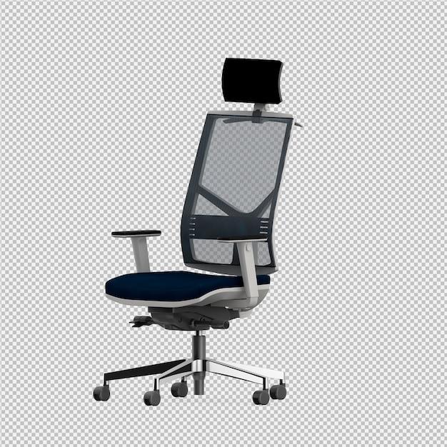 Der lokalisierte bürostuhl 3d übertragen Premium PSD