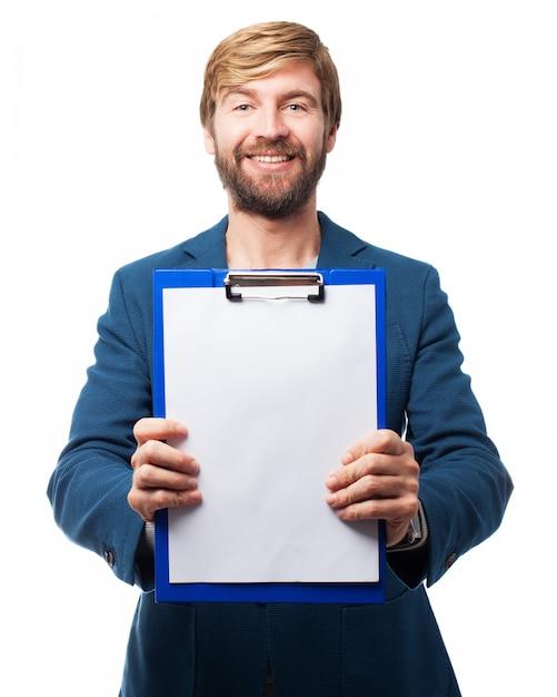 Der mann mit der checkliste Kostenlosen PSD
