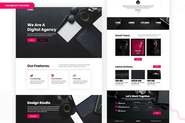 Design studio website seite Premium PSD