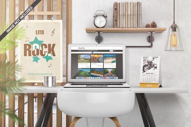 Desk scene creator-modell Premium PSD