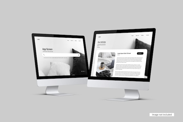 Desktop-bildschirmmodell Premium PSD