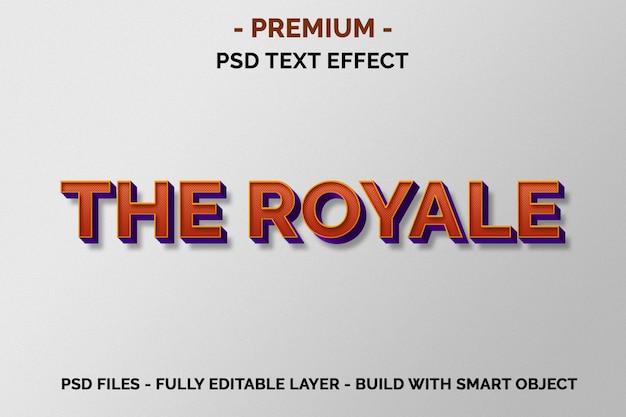 Die royale premium orange 3d-texteffekte Premium PSD