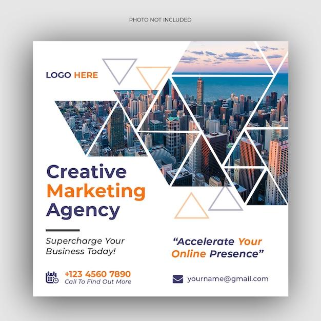 Digital business marketing social media banner Premium PSD