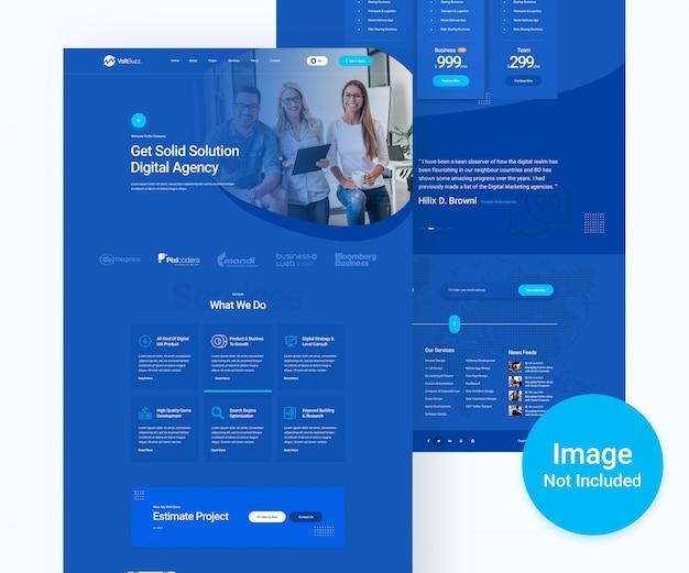 Digitales agentur- und business-psd-website-design Premium PSD