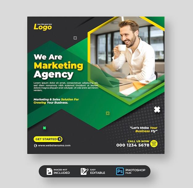Digitales marketing corporate business social media post-vorlage Premium PSD