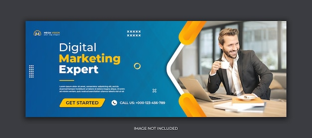 Digitales marketing corporate social media facebook cover web-banner-vorlage Premium PSD