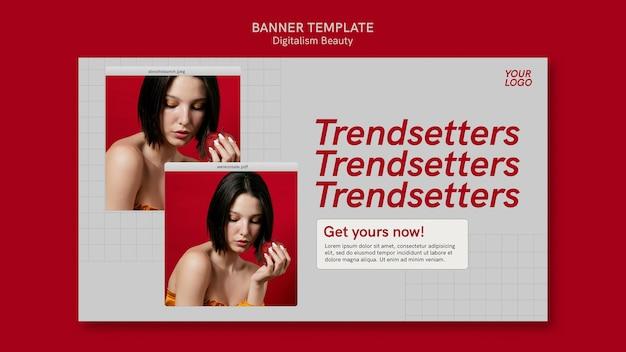 Digitalism beauty banner mit fotos Kostenlosen PSD