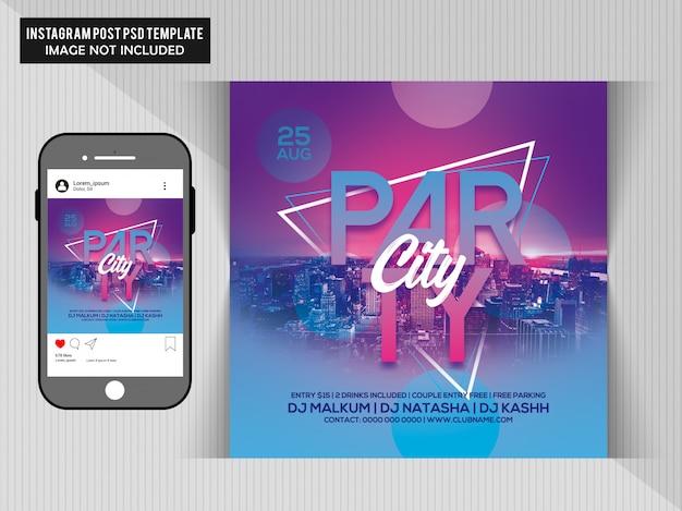 Dj-party-flyer Premium PSD