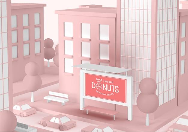 Donuts speichern außenwerbung Kostenlosen PSD