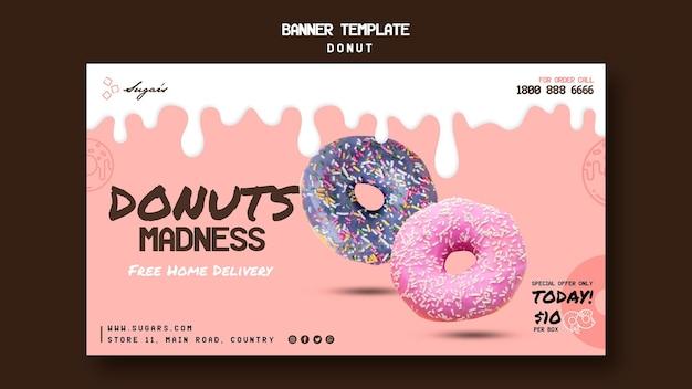 Donuts wahnsinn web banner vorlage Kostenlosen PSD