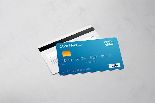 Doppelseitiges modell der plastikkarte Premium PSD