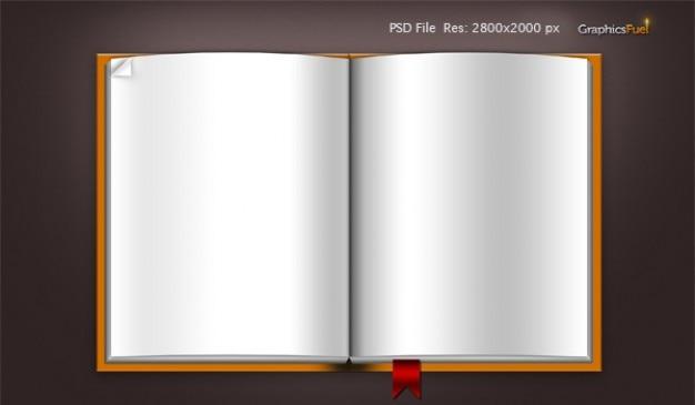 Download Leeres Buch Vorlage Psd Datei Symbole