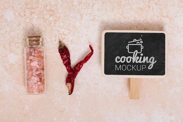 Draufsicht auf das konzept des kochens zu hause konzept Kostenlosen PSD