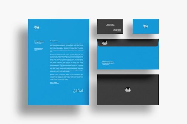 Draufsicht auf schwebende stationäre modelle Premium PSD