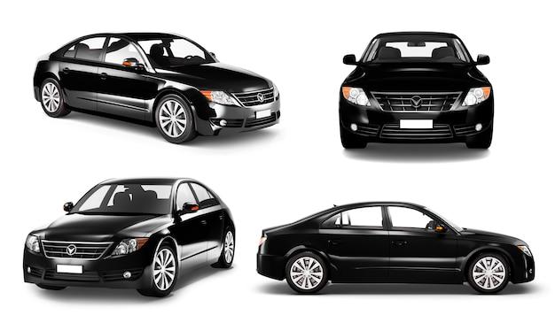 Dreidimensionales bild des autos Premium PSD