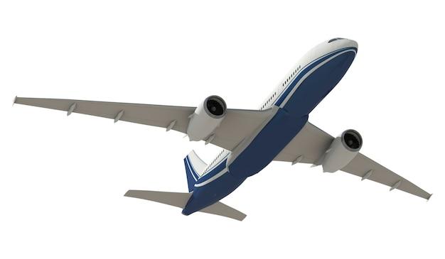 Dreidimensionales imageof ein flugzeug Premium PSD