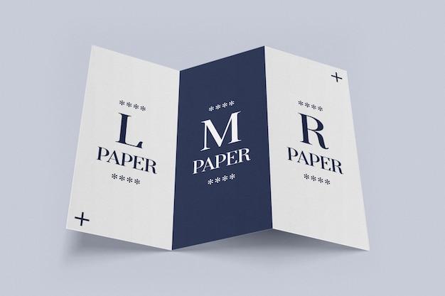 Dreifach gefaltete broschüre geöffnetes modell Premium PSD