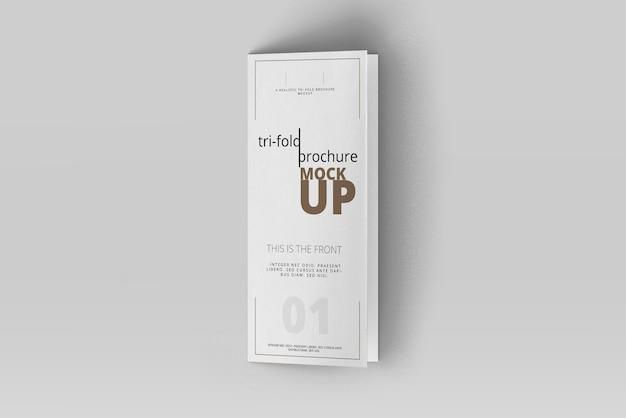 Dreifach gefaltete broschüre mock-up Premium PSD