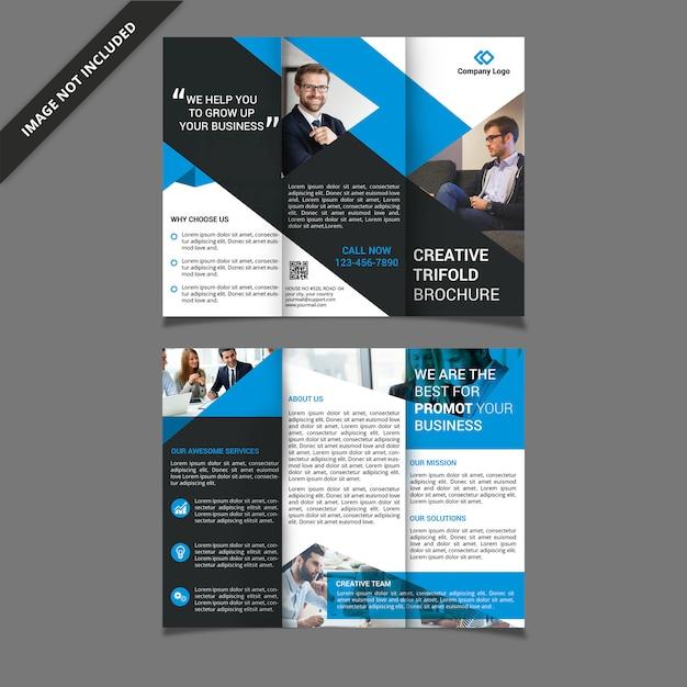Dreifach gefaltete broschürenvorlage Premium PSD
