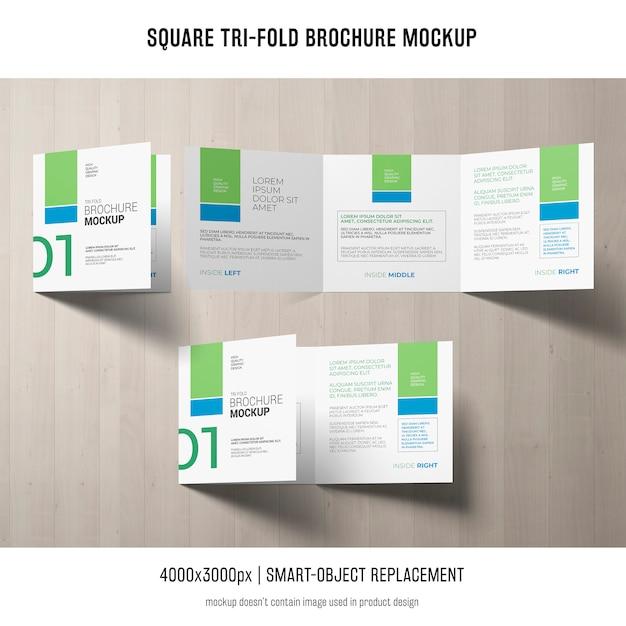 Dreifachgefaltete broschüre mockup Kostenlosen PSD