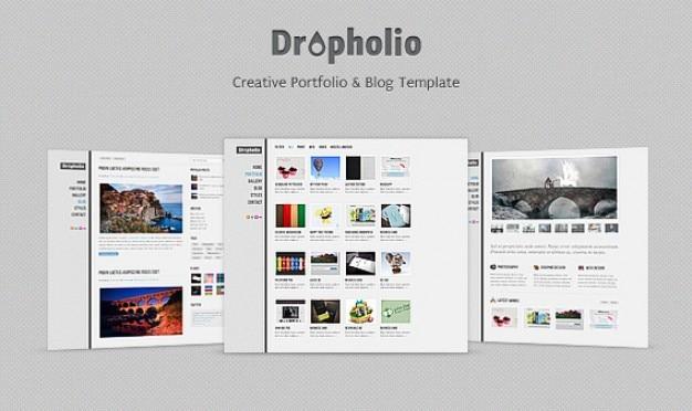 Dropholio - homepage psd Kostenlosen PSD