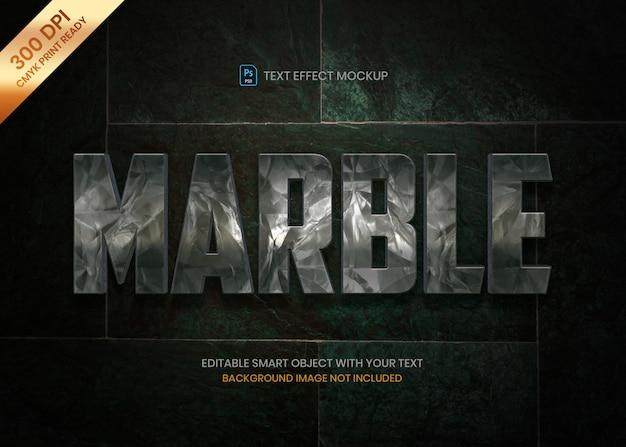 Dunkle logo-texteffekt-psd schablone des marmorsteins 3d. Premium PSD
