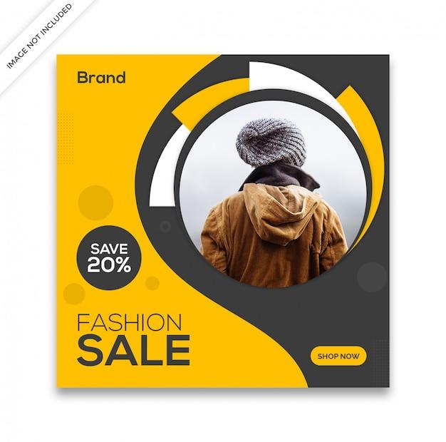 Dynamische verkaufs-social media-beitragsschablone Premium PSD