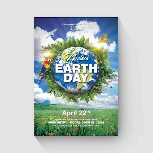 Eart day flyer vorlage Premium PSD
