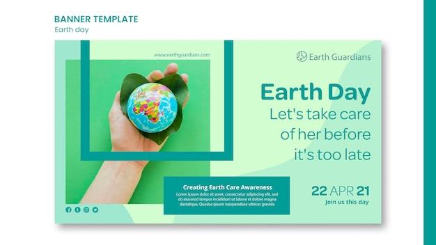 Earth day konzept banner vorlage Kostenlosen PSD